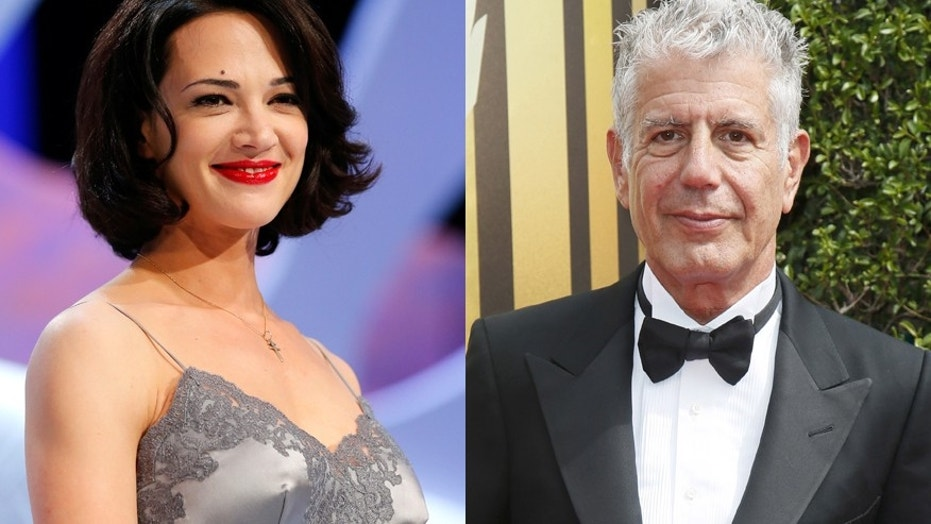 Actress Asia Argento returns to work in Italy following the death of her boyfriend, Anthony Bourdain.