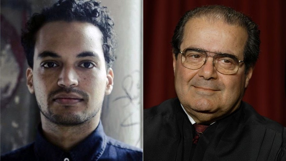 New York Times senior staff editor Raillan Brooks, left, apparently made fun of Supreme Court Justice Antonin Scalia in a string of tweets.