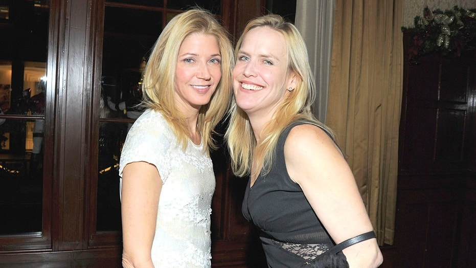 Candace Bushnell, left, and Jeanine Pepler, right, attend an event at the 21 Club on December 16, 2010 in New York City.