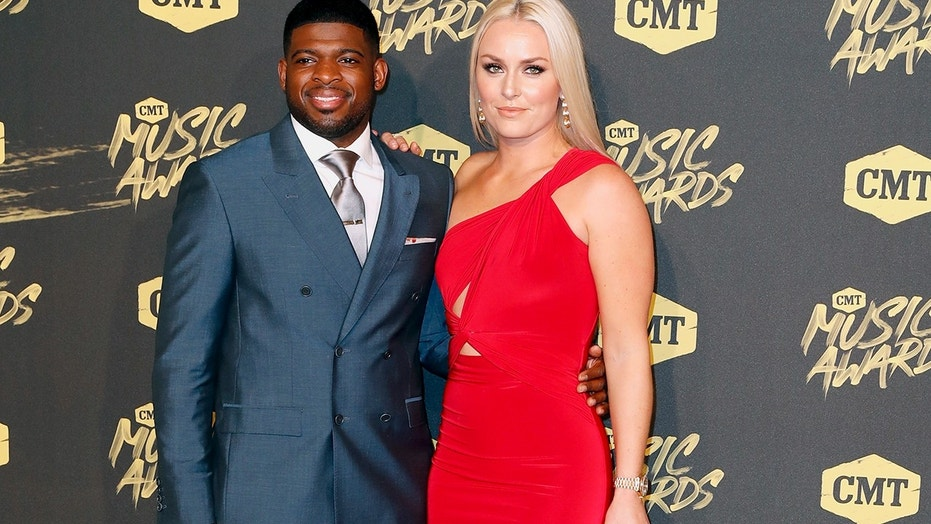 P.K. Subban, left, and Lindsey Vonn were reportedly seening dinning together in Vegas. Here, the new couple arrive at the CMT Music Awards at the Bridgestone Arena on Wednesday, June 6, 2018, in Nashville, Tenn.