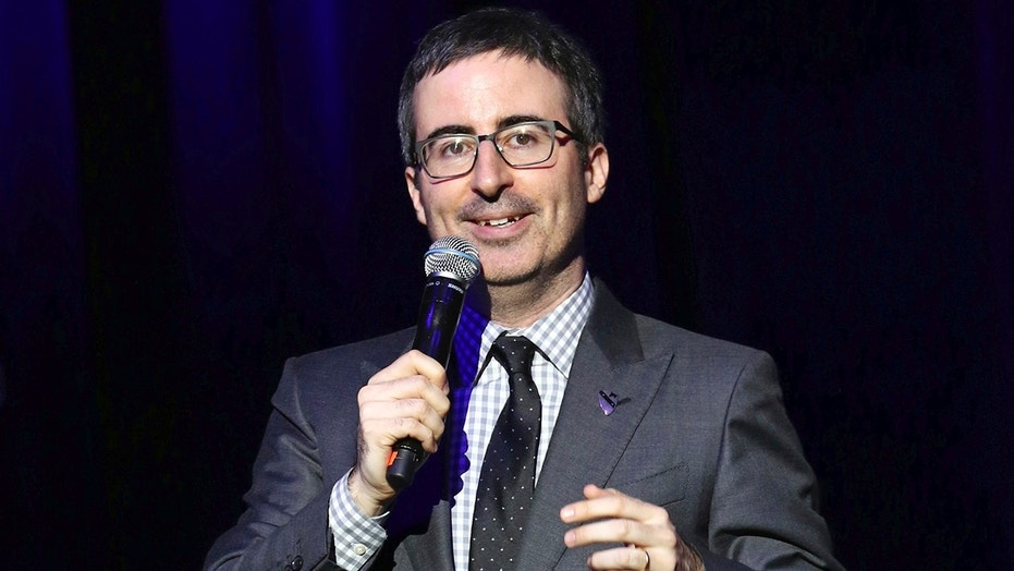 Comedian John Oliver attacked China over its human rights record.