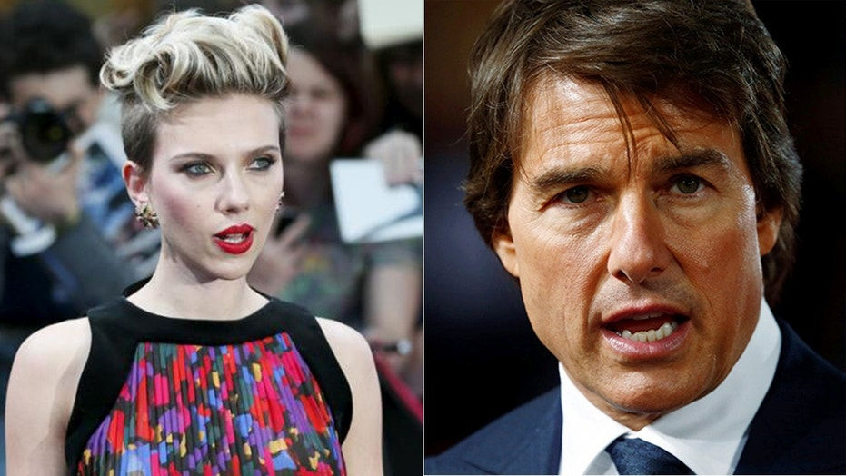 Scarlett Johansson denies a claim that she auditioned to be in a relationship with Tom Cruise.