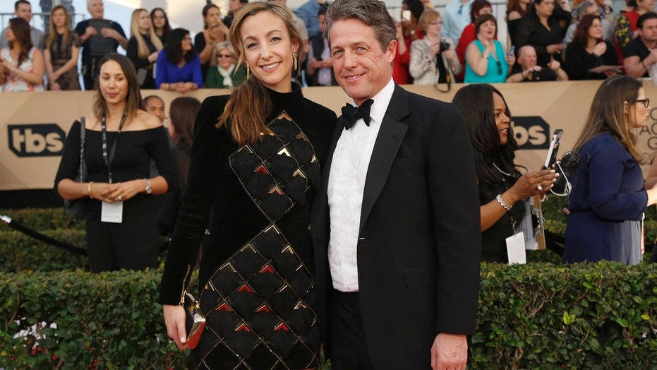 British actor Hugh Grant, gushes about married life with his new wife Anna Elisabet Eberstein.