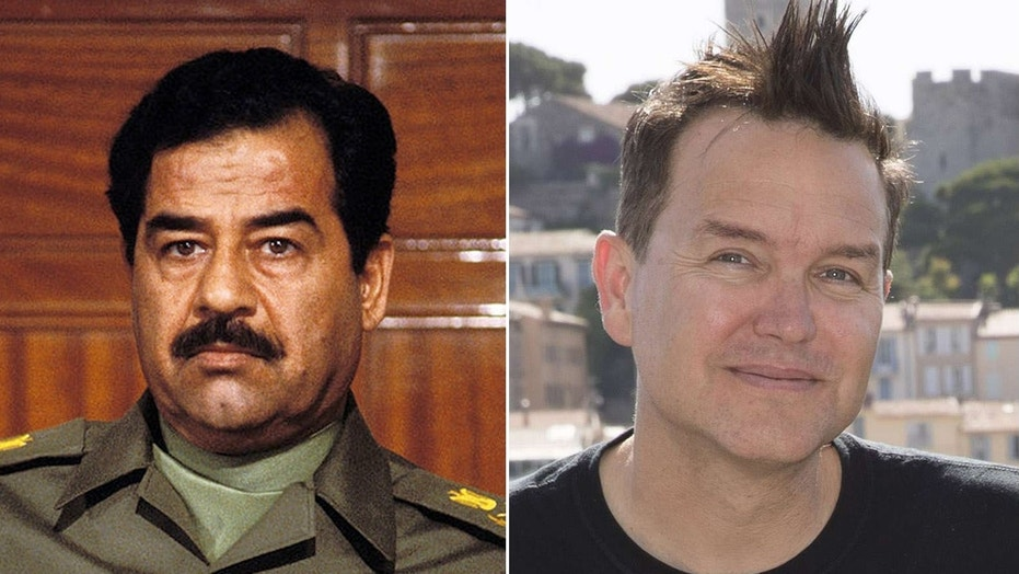 Blink-182's Mark Hoppus says he spoke with a Navy admiral and gave his thoughts on how to capture former Iraqi President Saddam Hussein, left.