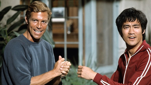 """UNITED STATES - SEPTEMBER 04:  LONGSTREET - """"The Way of the Intercepting Fist"""" - Season One - 7/19/1971, James Franciscus as Michael Longstreet, is rescued by antique dealer and martial arts expert Li Tsung (Bruce Lee), when he's attacked by three thugs on the street. Mike convinces Li to teach him Jeet Kune Do.,  (Photo by ABC Photo Archives/ABC via Getty Images)"""