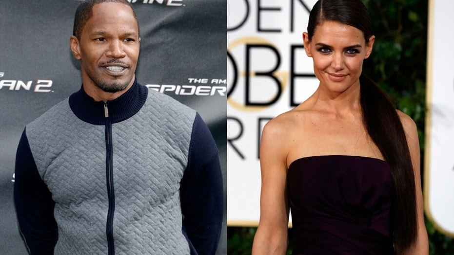 Jamie Foxx reportedly denies that things between he and girlfriend Katie Holmes are over.