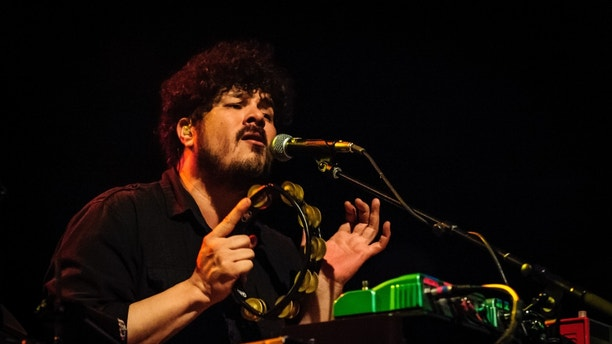 May 22, 2013 - Toronto, Ontario, Canada - Keyboardist RICHARD SWIFT for American indie rock band 'The Shins' perfoms at Sound Academy in Toronto. (Credit Image: © Igor Vidyashev/ZUMAPRESS.com)