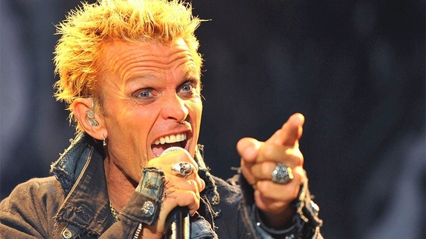 British rock musician Billy Idol performs at the annual 18th VOLT Festival in Sopron, 208 km (129 miles) west of Budapest, July 1, 2010. Picture taken July 1, 2010.    REUTERS/Nepszabadsag/Bernadett Szabo (HUNGARY - Tags: ENTERTAINMENT) - GM1E67303E901