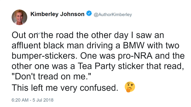 Kimberley Johnson tweet