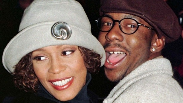 Whitney Houston and Bobby Brown in 1997.