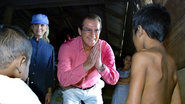 UNICEF Goodwill Ambassador and Former James Bond star Sir Roger Moore