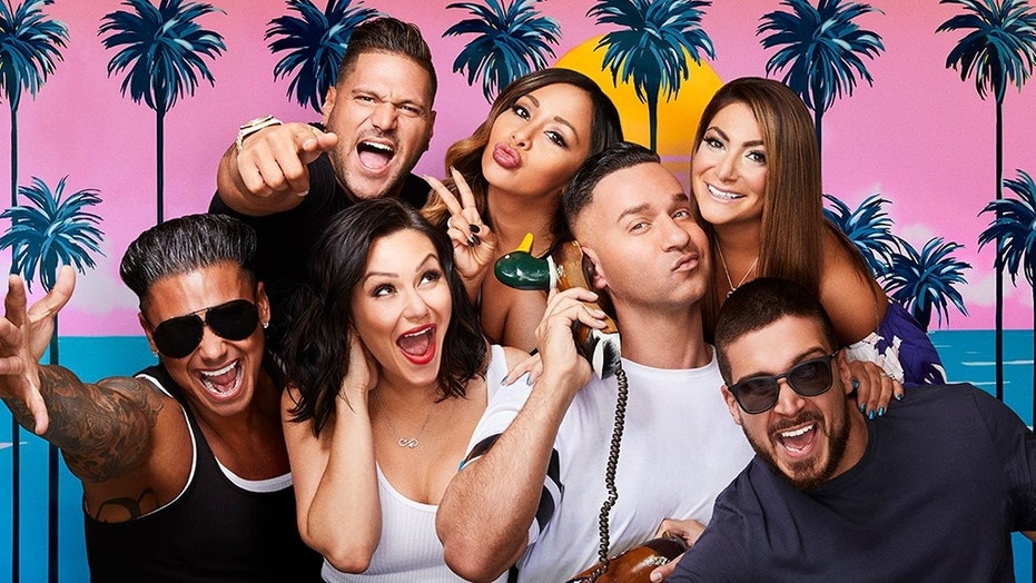 "The cast of the hit MTV reality show ""Jersey Shore: Family Vacation."""