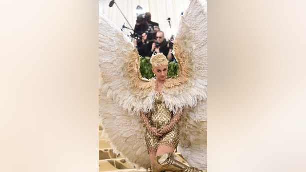 Katy Perry attends The Metropolitan Museum of Art's Costume Institute benefit gala celebrating the opening of the Heavenly Bodies: Fashion and the Catholic Imagination exhibition on Monday, May 7, 2018, in New York. (Photo by Evan Agostini/Invision/AP)