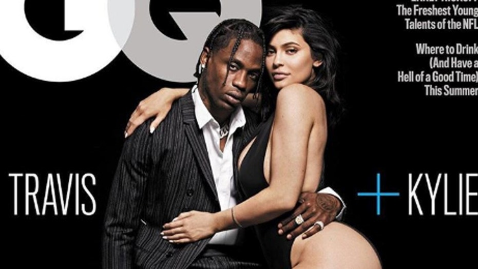 Kylie Jenner and Travis Scott pose for in a risque GQ spread where they open up about their controversial relationship.