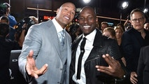 dwayne the rock johnson, tyrese - ap