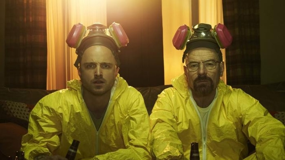 "The unsuspecting Jesse Pinkman (Aaron Paul) and Walter White (Bryan Cranston) cooked up the highly acclaimed crime drama, ""Breaking Bad,"" from 2008-2013."