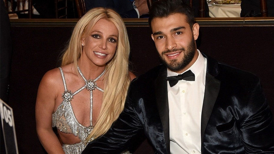 Britney Spears and Sam Asghari at the 29th Annual GLAAD Media Awards in Beverly Hills.