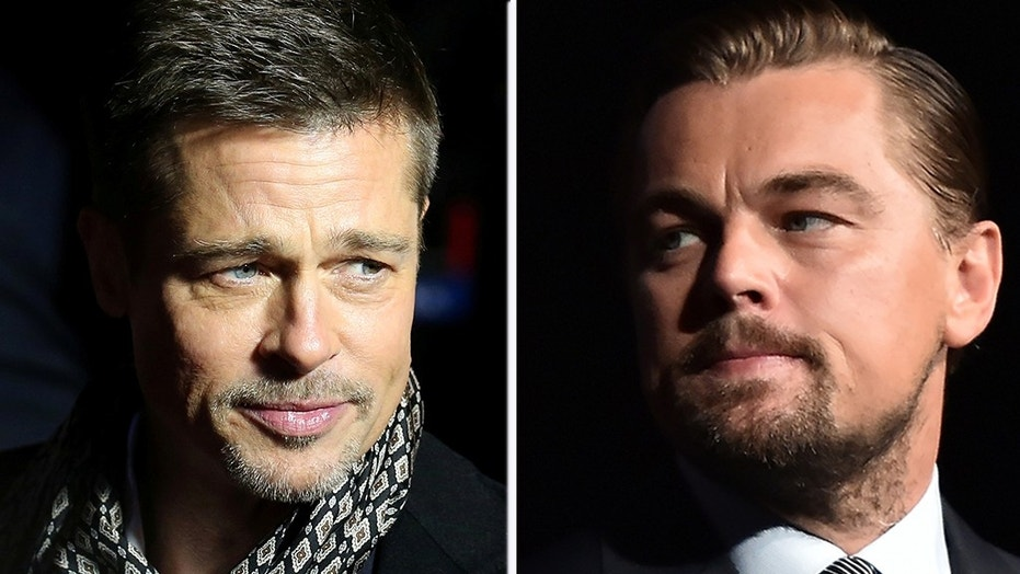 Brad Pitt (left) and Leonardo DiCaprio (right).