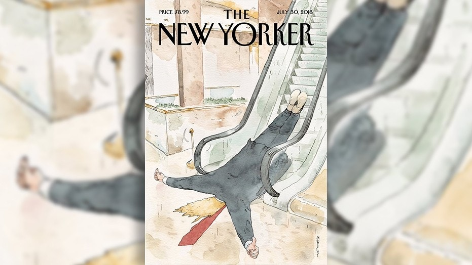 The esteemed New Yorker magazine continues to mock President Trump with cover illustration.