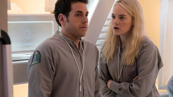 "Jonah Hill, left, and Emma Stone in ""Maniac."""