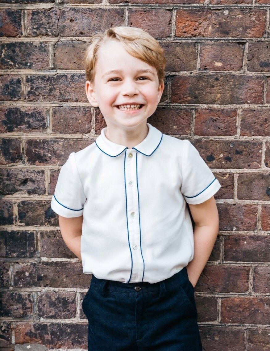 Kensington Palace unveils new Prince George photo in honor of his fifth birthday