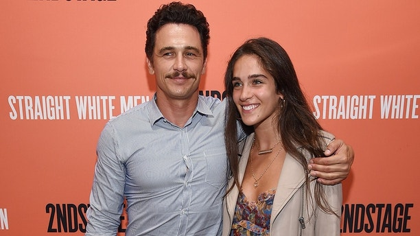 "NEW YORK, NY - JULY 23:  James Franco and  Isabel Pakzad attend the opening night of ""Straight White Men"" at Hayes Theater on July 23, 2018 in New York City.  (Photo by Dimitrios Kambouris/Getty Images)"