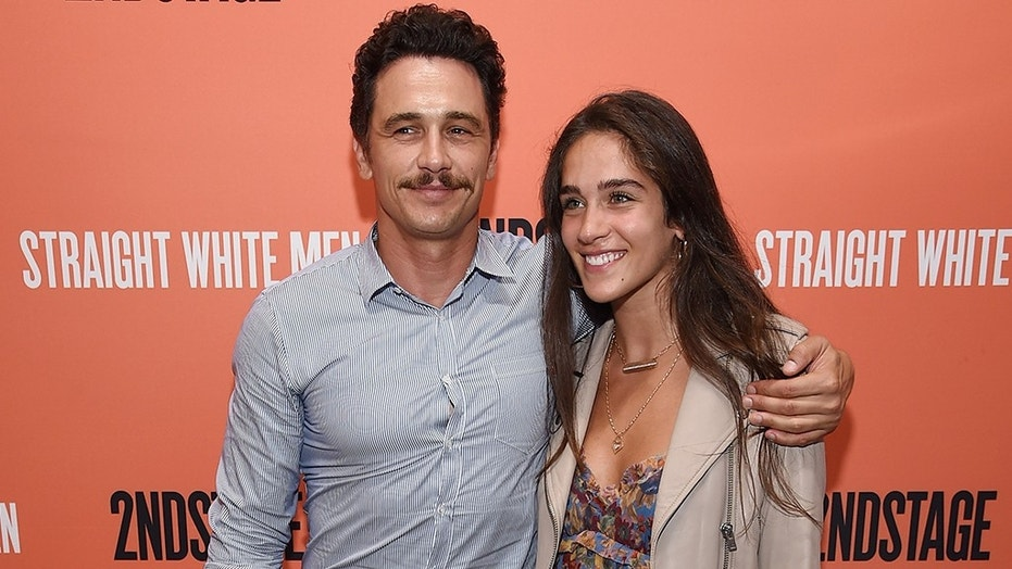 """James Franco and girlfriend Isabel Pakzad attend the opening night of """"Straight White Men"""" in NYC on July 23, months after the actor's harassment controversy."""
