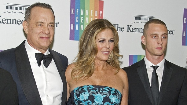 Dec. 6, 2014 - Washington, District of Columbia, United States of America - Tom Hanks, Rita Wilson, Chet Hanks, Samantha Bryant, and Colin Hanks pose for a group photo as they arrive for the formal Artist's Dinner honoring the recipients of the 2014 Kennedy Center Honors hosted by United States Secretary of State John F. Kerry at the U.S. Department of State in Washington, D.C. on Saturday, December 6, 2014. The 2014 honorees are: singer Al Green, actor and filmmaker Tom Hanks, ballerina Patricia McBride, singer-songwriter Sting, and comedienne Lily Tomlin..Credit: Ron Sachs / Pool via CNP (Credit Image: © Ron Sachs/CNP/ZUMAPRESS.com)