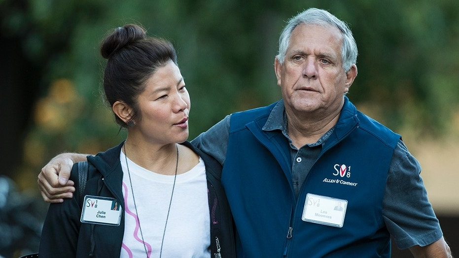 Julie Chen is standing by her husband, Les Moonves, after he was accused of sexual harassment in a report published by The New Yorker on Friday.