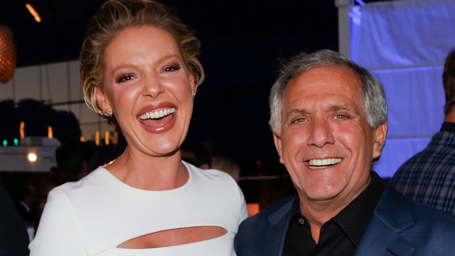 President and Chief Executive Officer of CBS, Leslie Moonves, has a long list of celebrity friends from years of work in the industry. Here the CEO poses with former CBS star Katherine Heigl at a 2016 press party in Los Angeles.