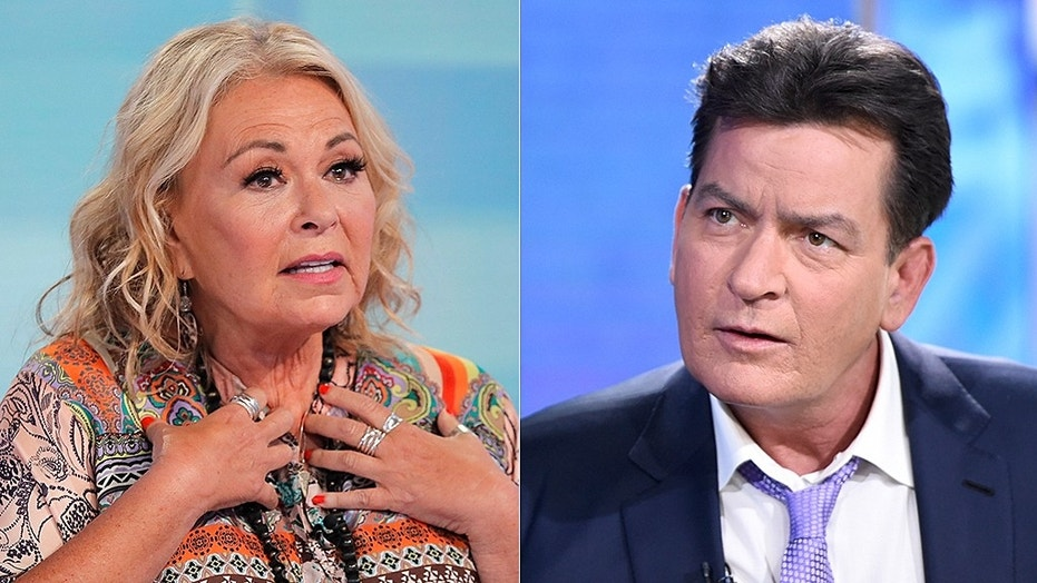 roseanne barr charlie sheen AP Getty