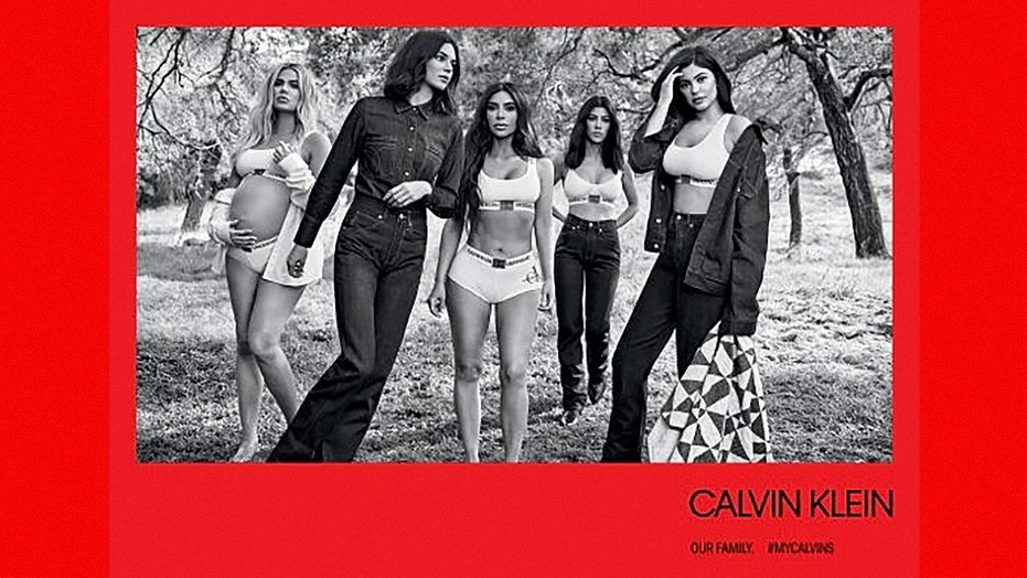 The Kardashian-Jenner sisters pose in their underwear during a shoot for Calvin Klein.