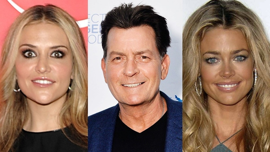 Charlie Sheen reportedly filed requests to modify his child support payments to ex-wives Denise Richards (right) and Brooke Mueller.