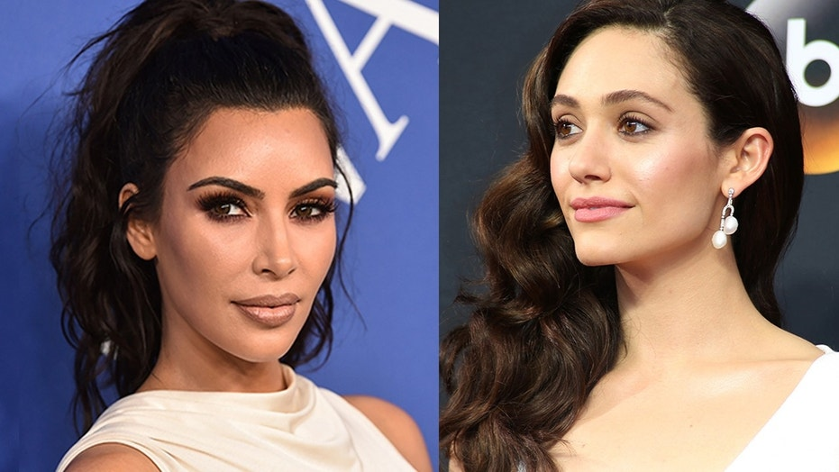 Emmy Rossum shares what she 'actually weighs' with fans on social media after slamming Kim Kardashian for 119-pound skinny comment.