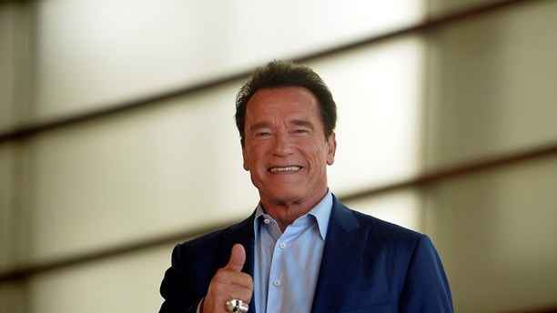Arnold Schwarzenegger takes part in a photocall to promote the documentary film Wonders Of The Sea at the San Sebastian Film Festival, in San Sebastian, Spain, September 25, 2017. REUTERS/Vincent West - RC13E20D29A0