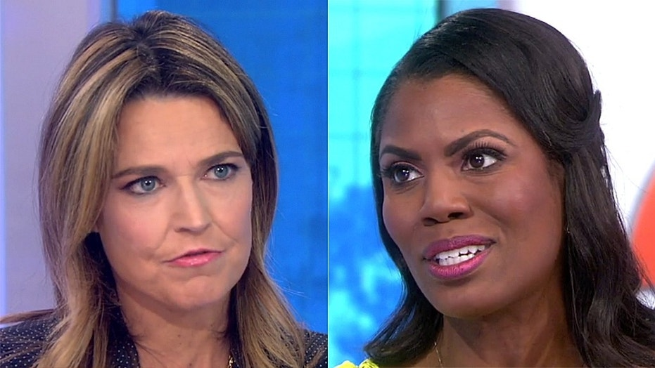 """Savannah Guthrie wanted to continue speaking with Omarosa Manigault-Newman but the former """"Apprentice"""" star ended the interview."""