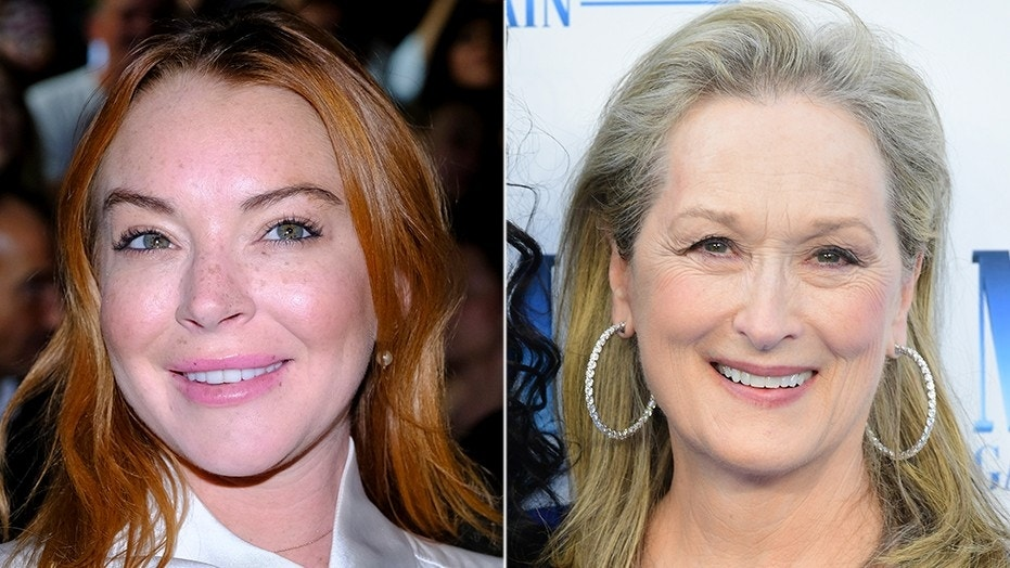 """Lindsay Lohan (left) said it would be a """"dream"""" to work alongside Meryl Streep (right) in a reboot of the Disney classic """"The Little Mermaid."""""""