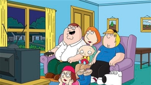"""This image released by Fox shows characters from the Fox animated series, """"Family Guy.""""  Fox is pulling from websites an episode of """"Family Guy"""" that depicts mass deaths at the Boston Marathon and has no immediate plans to air it again. Fox spokeswoman Gaude Paez says the episode has been removed from Fox.com and Hulu.com. (AP Photo/Fox)"""