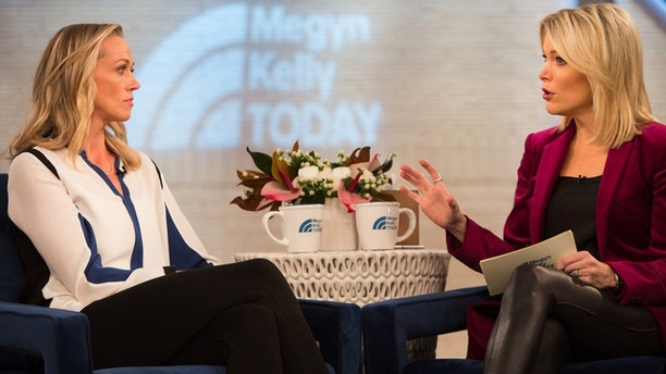 """Pictured: Addie Zinone (left) and Megyn Kelly on """"Megyn Kelly Today"""" Monday, December 18, 2017."""