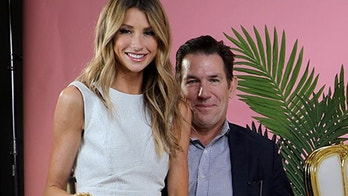 """From l-r: """"Southern Charm"""" stars Ashley Jacobs and boyfriend Thomas Ravanel with """"Morning Toast"""" hosts Jackie Oshry and Claudia Oshry."""