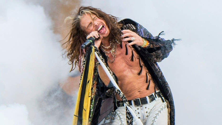 Aerosmith's Steven Tyler was captured pushing a fan that was trying to take a selfie with the rock star.