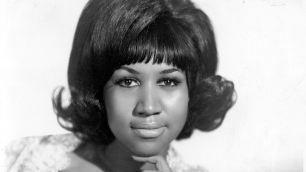 Posed portrait of Aretha Franklin