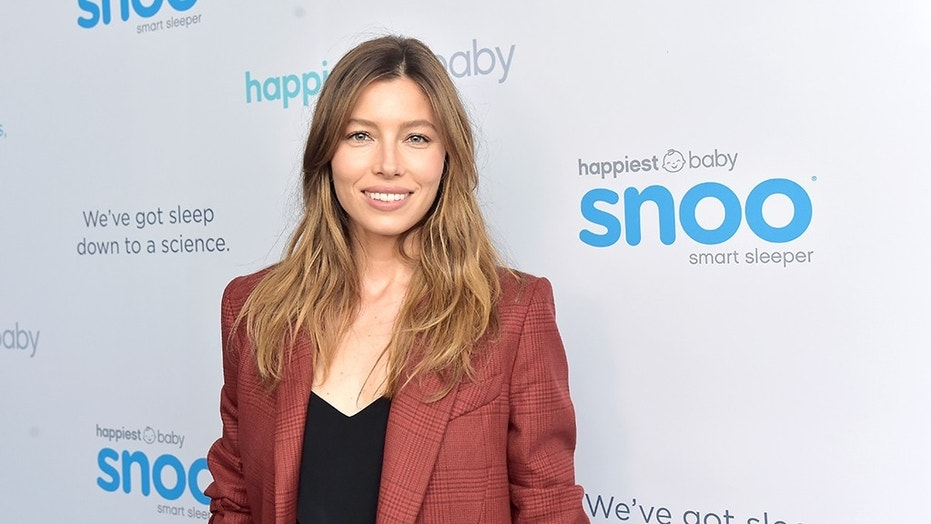 Jessica Biel said she celebrated her recent Emmy nod with a nice glass of bubbly.