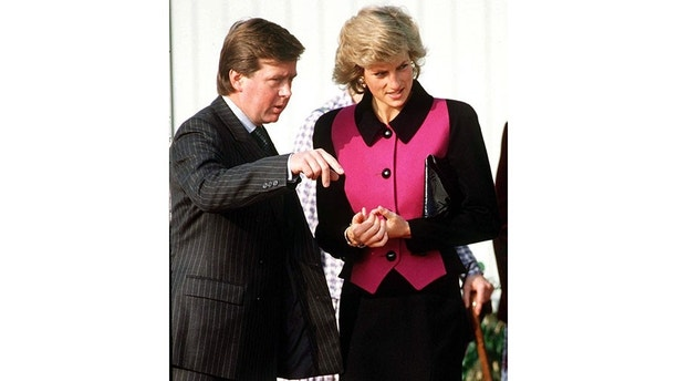OXFORD, UNITED KINGDOM - FEBRUARY 08:  Princess Diana With Bodyguard Ken Wharfe.  (Photo by Tim Graham/Getty Images)