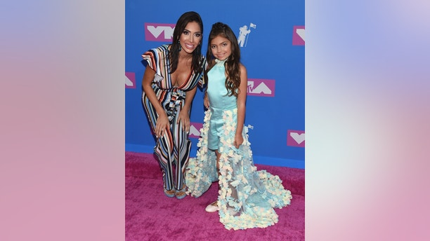 Farrah Abraham, left, and Sophia Laurent Abraham arrive at the MTV Video Music Awards at Radio City Music Hall on Monday, Aug. 20, 2018, in New York. (Photo by Evan Agostini/Invision/AP)