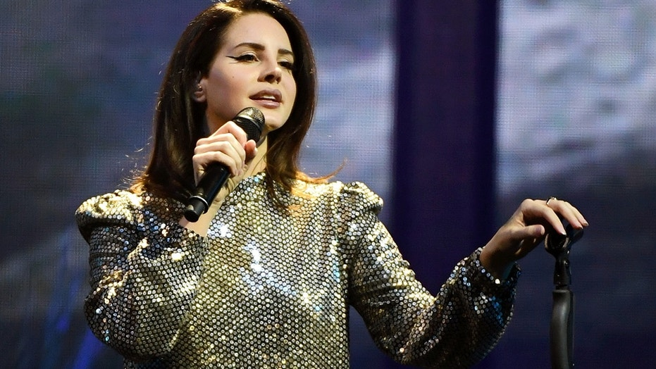 Singer/songwriter Lana Del Rey performs during a stop of her LA to the Moon Tour in support of the album