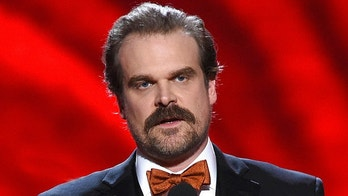 David Harbour presents the award for best coach at the ESPY Awards at Microsoft Theater on Wednesday, July 18, 2018, in Los Angeles. (Photo by Phil McCarten/Invision/AP)