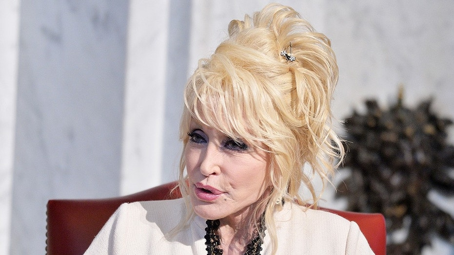 Country music singer Dolly Parton posted her own take on a popular meme.