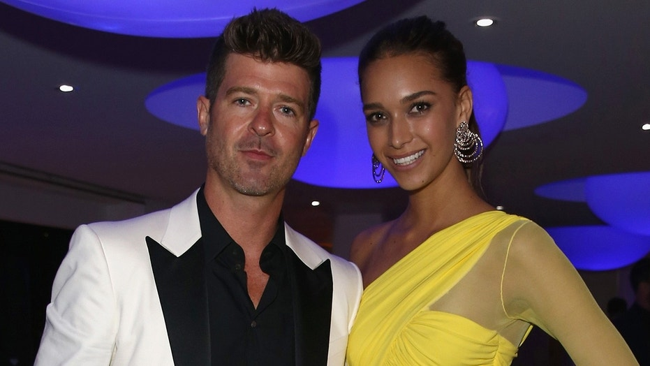 Robin Thicke and his girlfriend April Love Geary are expecting their second child together, Geary announced on Instagram Tuesday.