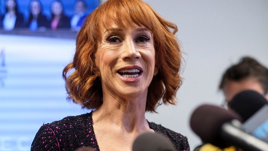"Kathy Griffin posted a video of her ""celebrating"" after the verdicts of former Trump campaign chairman Paul Manafort and Trump's former lawyer Michael Cohen on Tuesday, August 21, 2018."